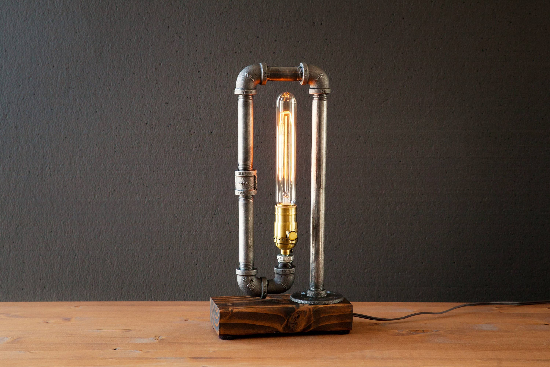 Edison Lamp Rustic Decor Unique Table Lamp Industrial Etsy