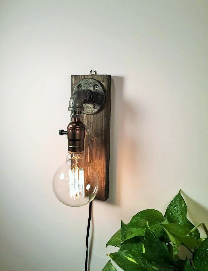 Plug in Sconce-Table lamp-Wall sconce-Steampunk lamp ...