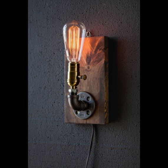 Plug in Wall Sconce Lamp/Rustic decor/Sconce lamp ...