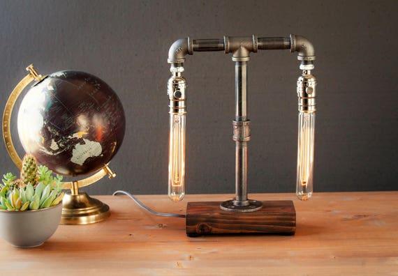 Edison lamp rustique décor unique table lampe industriel éclairage