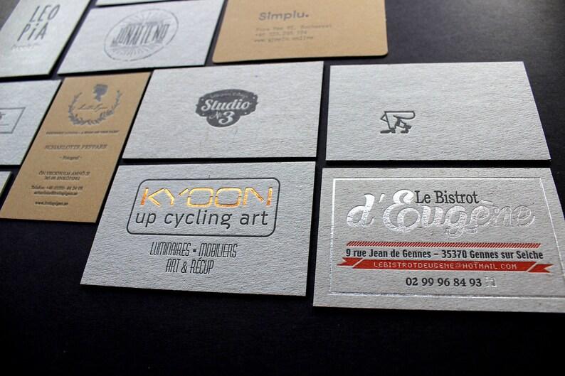 200pcs Dorure A Chaud Ou Typographie Cartes De Visite