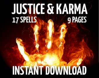 Witchcraft etsy 9 book of shadows pages justice and karma magic court wicca witchcraft like charmed bos pages wiccan ebook real witchcraft book fandeluxe Gallery
