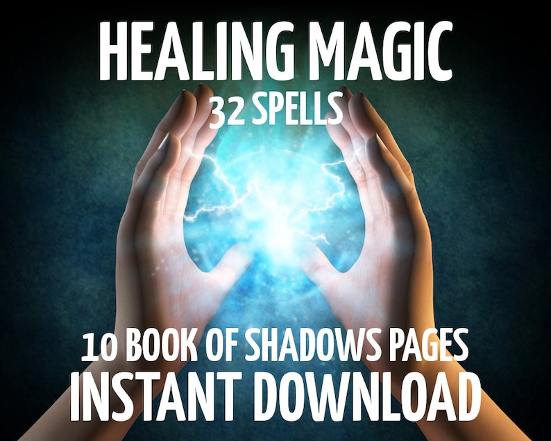 10 Book of Shadows Pages, Healing Spells, Wicca, Witchcraft, Spell Book  Pages, Real Book of Spells, BOS Pages, Wiccan Spell Book