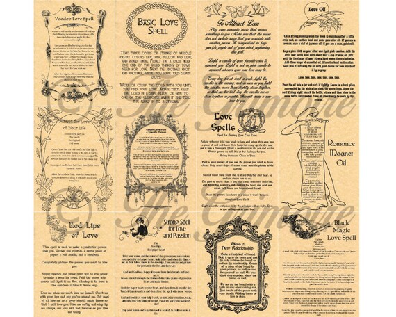 Love Book of Shadows Pages, Romance Spells, Witchcraft, Wicca, Real Magic  Spells, Wicca Poster, Spell Book Pages