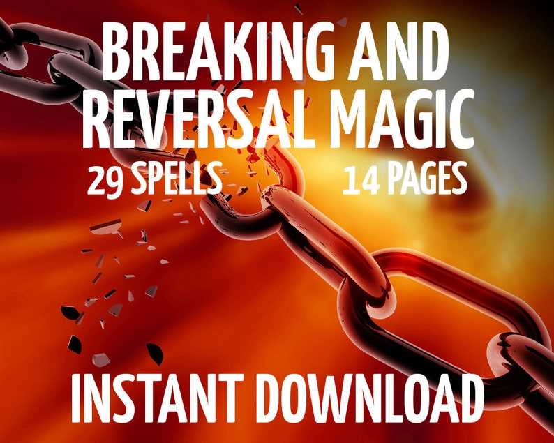 Breaking Magic Book of Shadows Pages, Wicca, Witchcraft, Spell Pages,  Breaking Magic, Reversal Magic,Wiccan Book, Instant Download