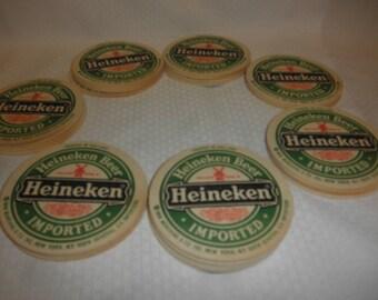 Coaster Heineken Beer 32 in All  Printed in Hollland vtg