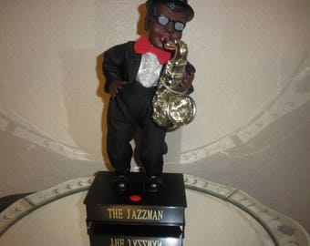 The Jazzman Dancing Swinging Saxophen Player Collectible 1950's