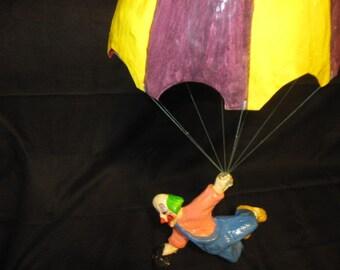 German Made Paper Mache Parachute and Clown