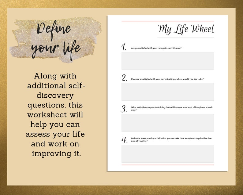 My Life Wheel | Goal Setting | Printables | Personal Development Printable  | Life Goals Planner | Life Wheel Worksheet | Self Discovery