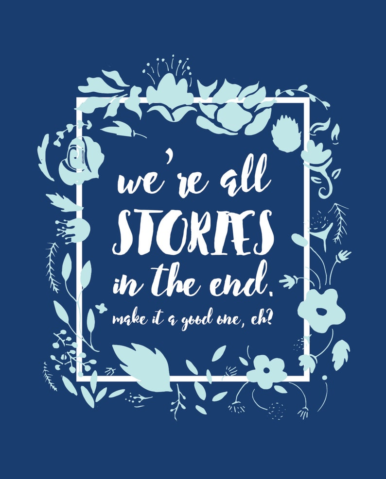 Doctor Who Were All Stories In The End Typography Etsy