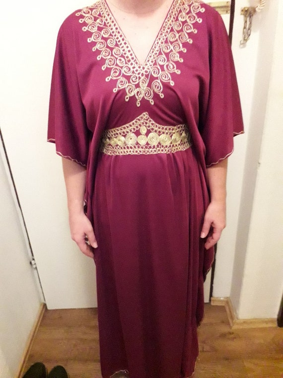 Vintage kaftan dress, hadmade, emroidered