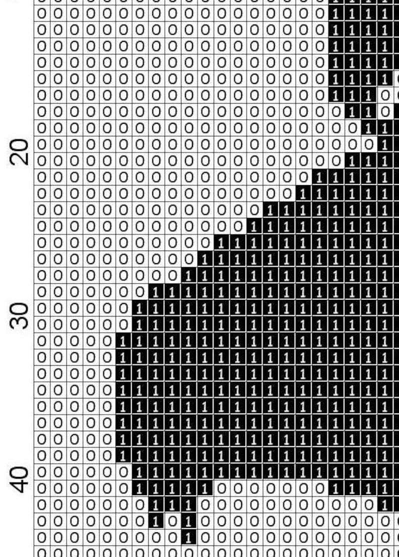 Japanese Women Portrait cross stitch pattern, PDF patterns, portrait, black  and white