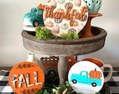 Pumpkin truck, Thankful, pumpkins, Fall 3d mini sign, fall decor, home decor, tier tray decor