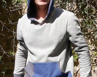 PDF sewing Pattern for Mens hoodie Huomo e-book sewing instructions and PDF file pattern