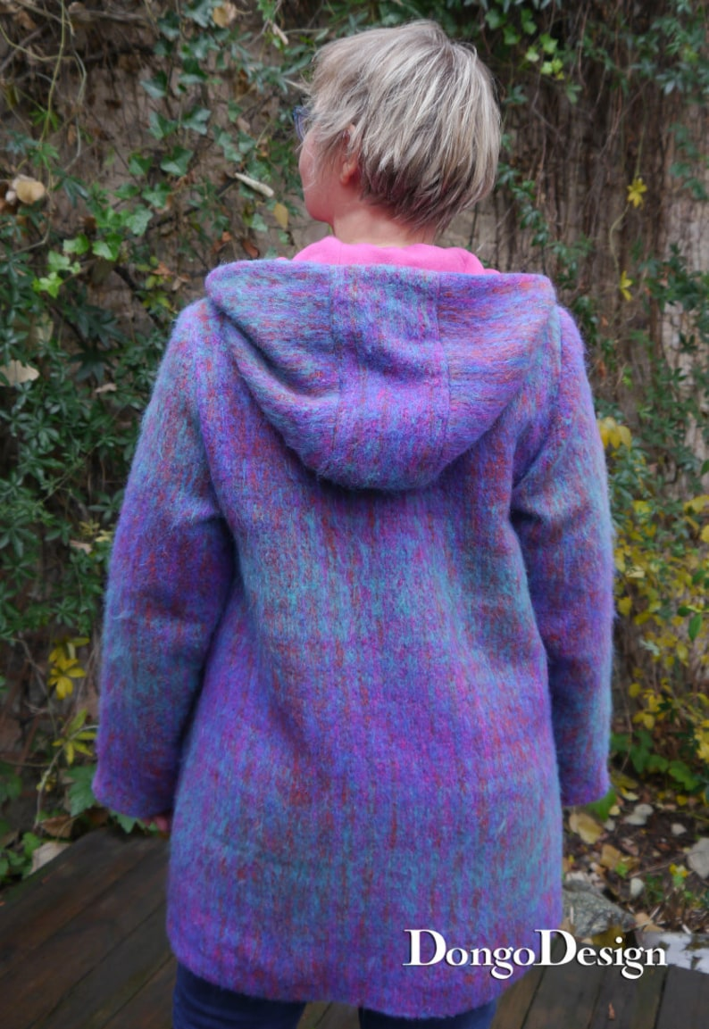 PDF sewing Pattern Coat Ariane with Ebook sewing instructions