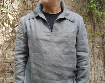 PDF sewing Pattern Mens shirt Zorbas with ebook sewing instructions