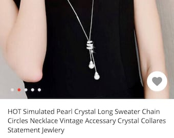 Stimulated Crystal Long Sweater Chain