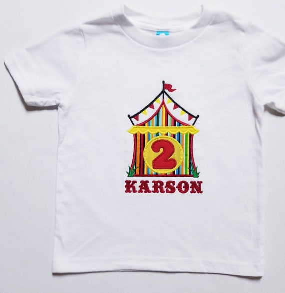Birthday Shirt Kids Circus Themed Party
