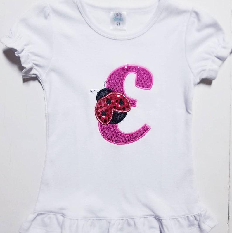 Monogram Shirt Monogram Gift Birthday Gift Lady Bug