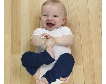 Navy Blue Newborn Baby Leg Warmers Slightly Irregular