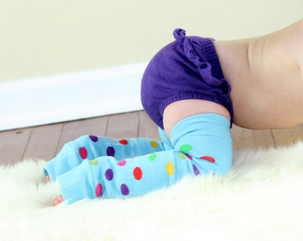 Blue Dots Baby Leg Warmers Slightly Irregular