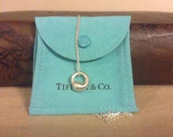 Vintage Tiffany .925 silver designed by Elsa Peretti eternal necklace
