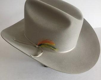 eed5d9f298e0a Vintage Stetson Marlboro Silver Belly Cowboy Hat