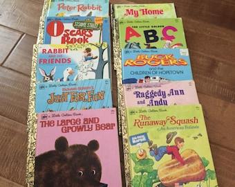 Set of Ten Vintage Little Golden Books