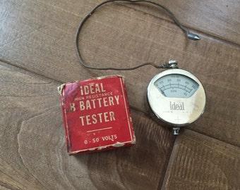 Vintage Ideal Voltmeter B Batteries****SALE****