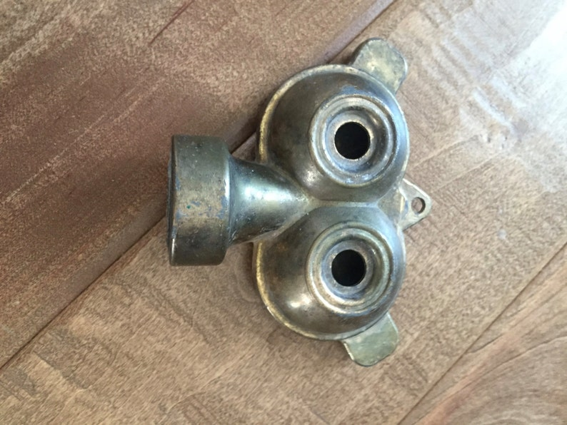 Vintage Unmarked Brass Twin Owl Sprinkler Head