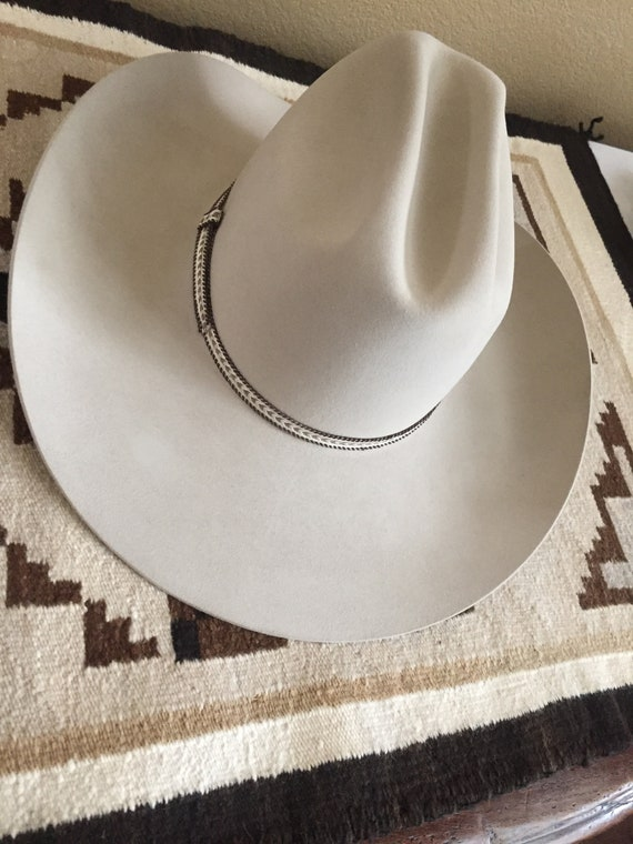 Vintage Resistol for Sheplers 7 1 4 Long Oval Cattleman Cowboy  e0f1132b6e9