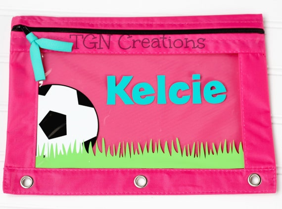 Soccer Pencil Pouch, Personalized Pencil Pouch, Soccer Back to School, Binder Pouch, Personalized Soccer, Monogram Pencil Pouch, BTS Supply