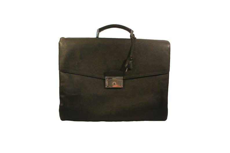 2e352971aae5 Prada Briefcase Large Fits everything Vintage black