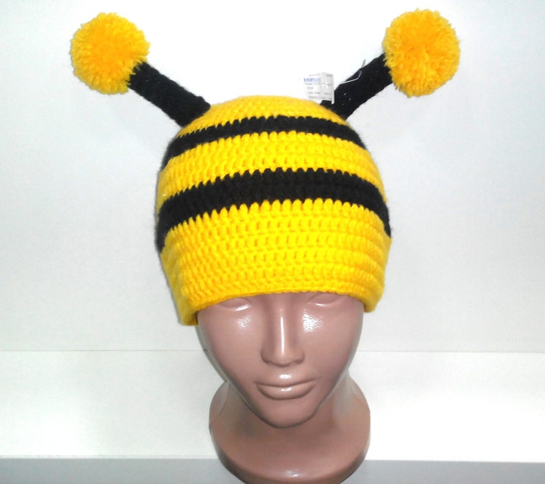 6a97ee341c6 Bumble bee Hat Baby hatToddler Hat Crochet bee Hat