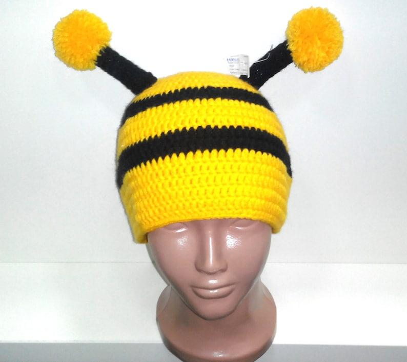0b657d68da7 Bumble bee Hat Baby hatToddler Hat Crochet bee Hat