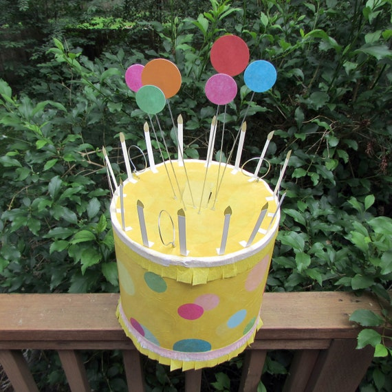Pleasant Yellow Dot Cake Pinata Birthday Cake Pinata Cake Pinata Etsy Funny Birthday Cards Online Benoljebrpdamsfinfo
