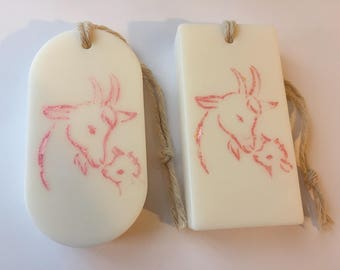 Natural Goat milk handmade soap,Natural Unscented