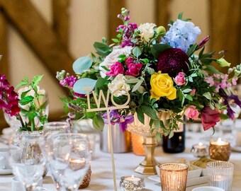 Metallic Old Hollywood Gold Goblet / Wedding Flowers / Gold Pedestal Vase / Wedding Centrepiece /  Vases / Centerpiece / floral arrangement