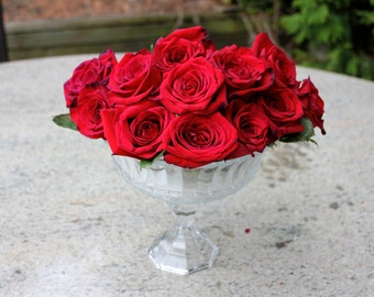 Beautiful Clear Unpainted Glass Pedestal Vase Floating Candleholder Floral White Wedding Vase Decor Centerpiece Centrepiece House Bowls