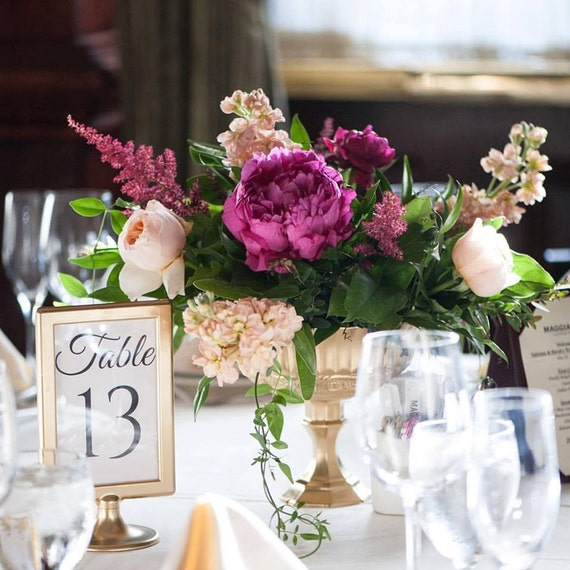Wedding Centerpieces Gold Mercury Glass Wedding Vases Etsy
