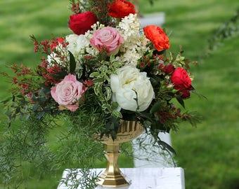 Gold Glass Pedestal Vase Wedding Centerpieces Pedestal Centrepieces Compotes Wedding Centrepiece Pedestal Compote Distressed Candleholder