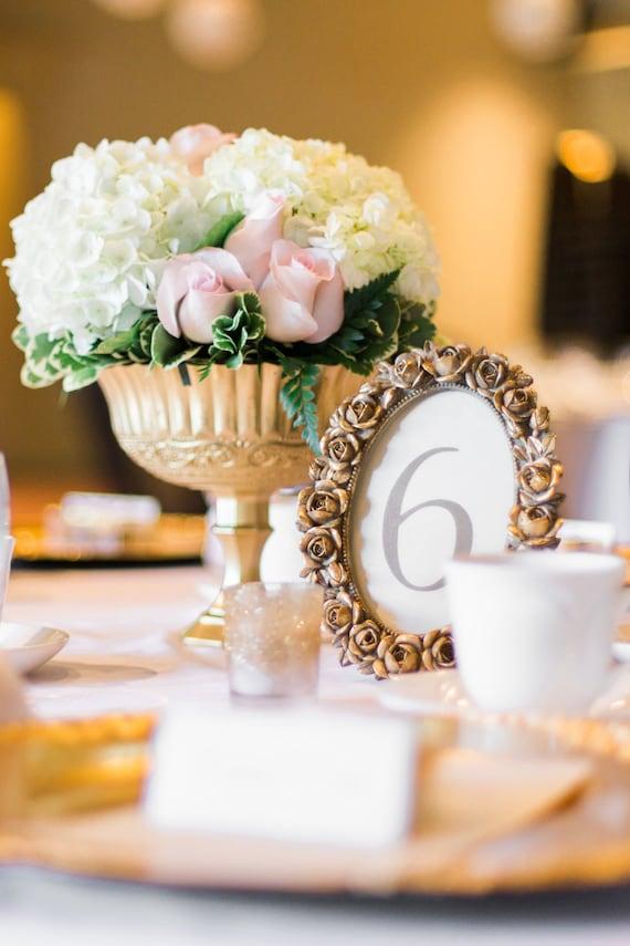 Gold Kelch Strauss Hochzeit Blumen Gold Sockel Vase Etsy