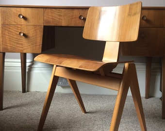 Mid Century CHAIR Robin Day Hillestak Vintage 1950 Plywood Hille England Eames British Ply Mid Century Modern