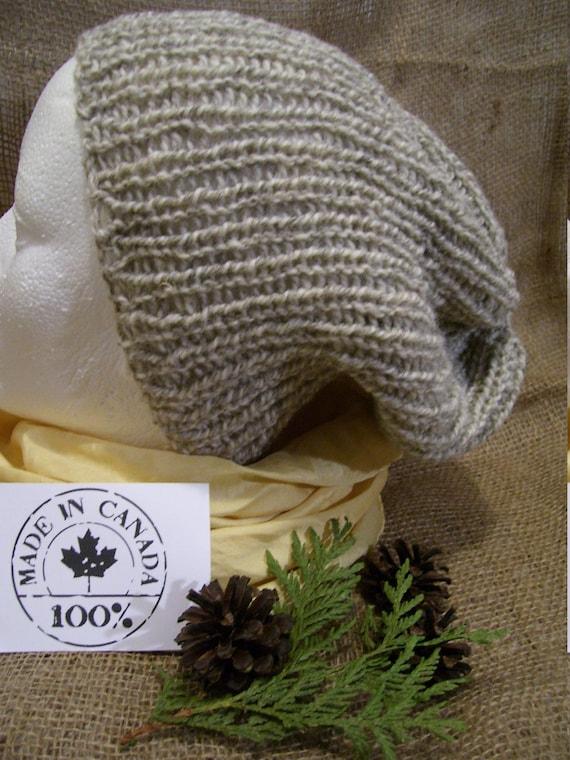 simple grey slouchy beanie hat unisex for men or women warm  0befe643c71