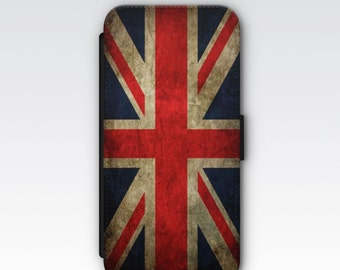 4b13f52cd5 Wallet Case for iPhone 8 Plus, iPhone 8, iPhone 7 Plus, iPhone 7, iPhone 6,  iPhone 6s, iPhone 5/5s - Vintage Union Jack Flag Case