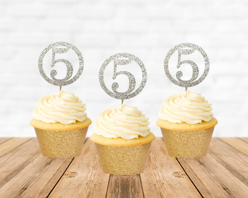 5th Birthday Cupcake Toppers Fifth