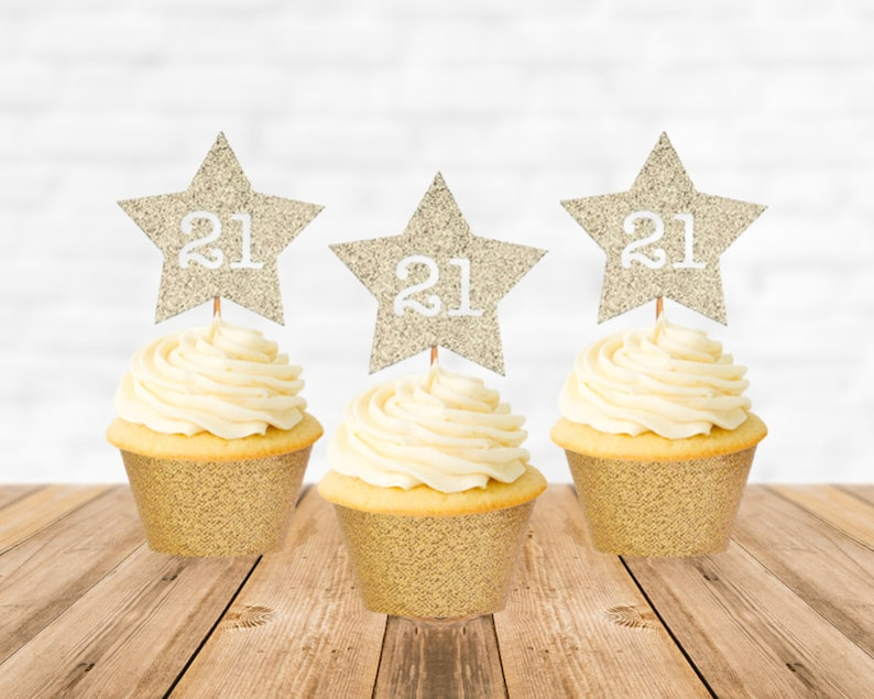 21st Birthday Cupcake Toppers 21 Birthday Cupcake Toppers Etsy