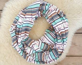 Nursing Scarf, Spring Prairie Stripe Breastfeeding Scarf, Nursing Cover, Breastfeeding Cover, Mama Scarf, Pumping Scarf