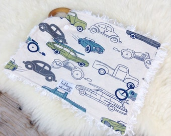 Baby Blanket, Slow Ride Tula Accessory, Lovey Blanket, Teething Ring Sensory Blanket, Minky Blanket, Baby Boy Gift