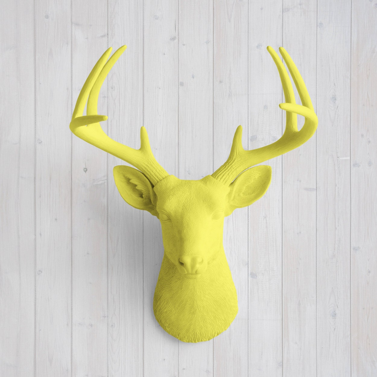Wall Charmers™ Deer in Yellow Faux Head Fake Animal Resin | Etsy